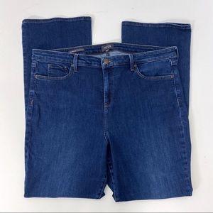 NYDJ 18 Barbara Bootcut Dark Wash Jeans Plus